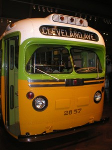 The Rosa Parks bus in Dearborn, Michigan is one of many historical icons to have received support from the Save America's Treasures program