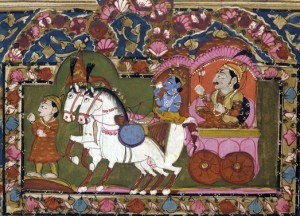 krishna_and_arjun_on_the_chariot_mahabharata_18th-19th_century_india