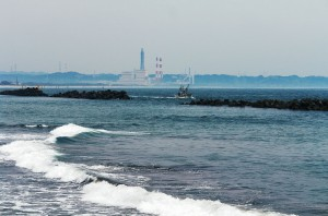 Thermal Power Plant from Nakoso Beach, Iwaki-city, Fukushima, Japan