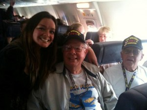 Southwest Airlines  Community Relations & Giving Employee Amber Montelongo with Honor Flight Veterans
